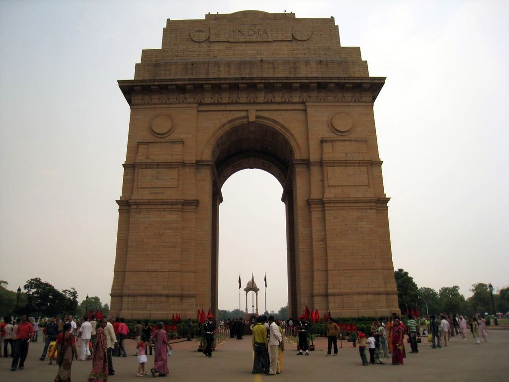 The India Gate in Delhi is one of India's largest war memorials.