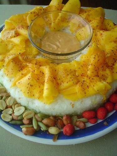 Rosca de verduras con mango