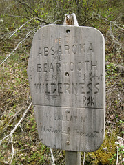 Absaroka Beartooth Wilderness Sign Photo