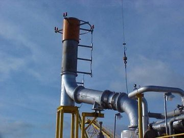 Expansion Joint Exhaust Assembly for an Oil Refinery in Texas