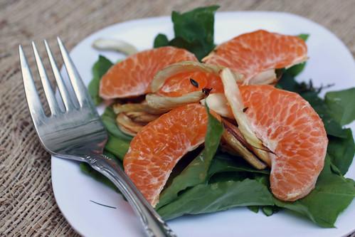 Arugula Fennel orange salad