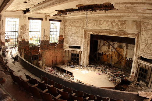 Auditorium. Abandoned City Methodist Church. Gary, Indiana.