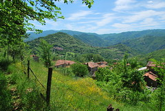 View back to the village (moomindk) Tags: italy pretty village rustic scenic tuscany hillside longorio