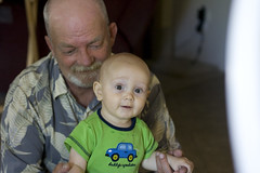 Grandpa Ron and Logan