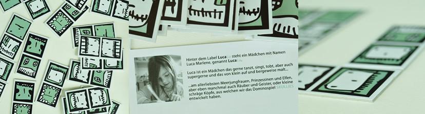domino by luca (5 y.), description in german