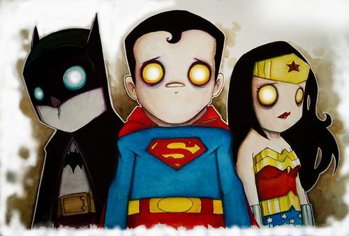 Batman Superman Wonderman  por Christopher Uminga