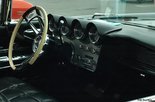 1966 Lincoln Continental Convertible Black. 1960 Lincoln Continental convertible - lack - interior