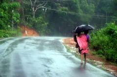 ....Its School time.... (chitra chaaya /  ) Tags: colors girl rain childhood kid women village child vibrant mother coastal monsoon karnataka udupi balu karnatak karavali coastalkarnataka mungaaru