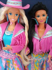 Western Fun Barbie & Nia 1988 (Chicomttel) Tags: fun 1988 barbie western nia mattel inc