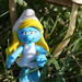 Smurfette under mushrooms