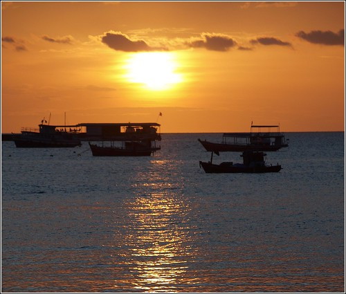 pattaya golden sunset