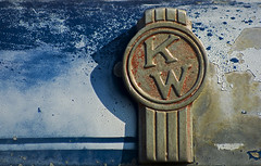 KW blues (Light Orchard) Tags: old blue red white truck vintage rust peeling paint antique decay wear ornament age transportation vehicle hood tear corrosion allrightsreserved kw kenworth donotusewithoutpermission 2010bruceschneiderlightorchard