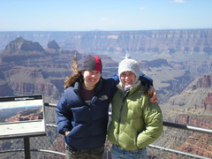 Clare & Rachel at Bright Angel Point