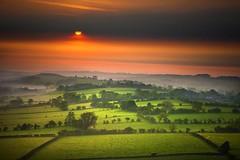 Misty Sunrise (Canonshot Mole) Tags: uk sun mist fog sunrise landscape interestingness yorkshire explore
