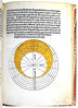 Page of Text with Partly Coloured Diagram from 'Theoricae Novae Planetarum'