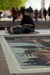 Emma McNally, Southbank (London) Artist (Craig Jewell Photography) Tags: london painting artist pavement davinci australia brisbane southbank replica painter uktrip emmamcnally