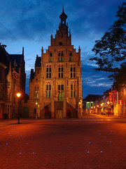 Old Townhall Culemborg (Big Hermit) Tags: night partly clouded
