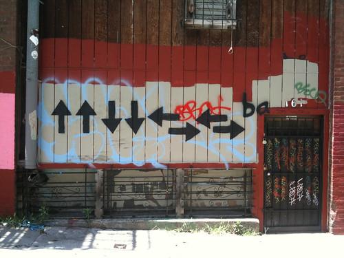 Konami code graffiti