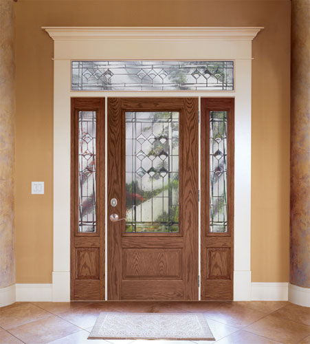Feather River Door Fiberglass Entry Doors - Medium Oak Door \u0026 Sidelites w/ a Rectangular & Feather River Door\u0027s most recent Flickr photos | Picssr