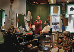 Figaro Pasquale Capone in his barbershop in Amsterdam (martin alberts1) Tags: holland amsterdam ngc barbershop hairdresser saloon figaro kapper stegen figaropasquale amsterdampictures martinalberts pasqualecapone buurtwinkels begijnenstraat10 fotosvanamsterdam