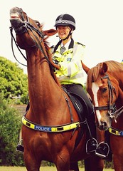 Henry Your Rude Jokes Don't Amuse Me,And she's Just Encouraging You (ihughes22) Tags: police policehorses liverpoolecho nikond40 liverpooldailypost theperfectphotographer picturesworthathousandwords photolaughs knowsleymerseyside ihughes22 prescotcarnival