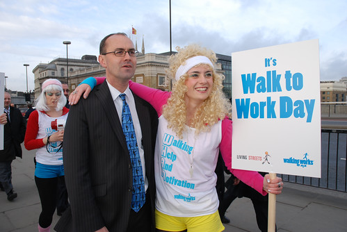 Walk to Work Day in the UK (by: Living Streets, creative commons  license)