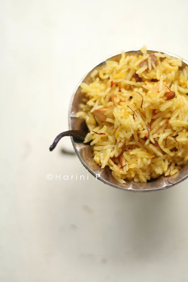 Zarda or Meethe chaawal