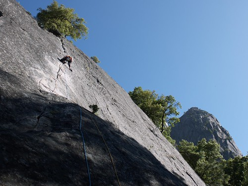 Serhiy on the   first pitch of Nutcracker  (5.9 variation)