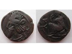 Vologases III bronze coin (Baltimore Bob) Tags: old money bronze persian coin ancient iraq persia parthian parthia arsacid seleukia arsakid vologases