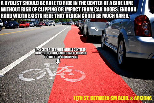 Substandard Bike Lane Width For Potential Door Zone Risk