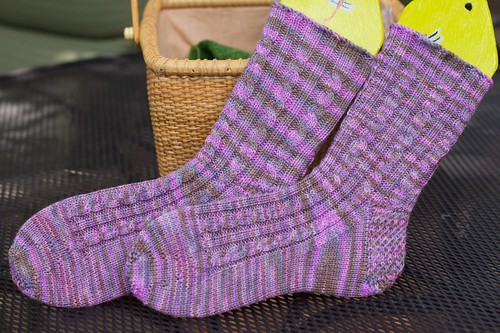 Rib and Cable Socks