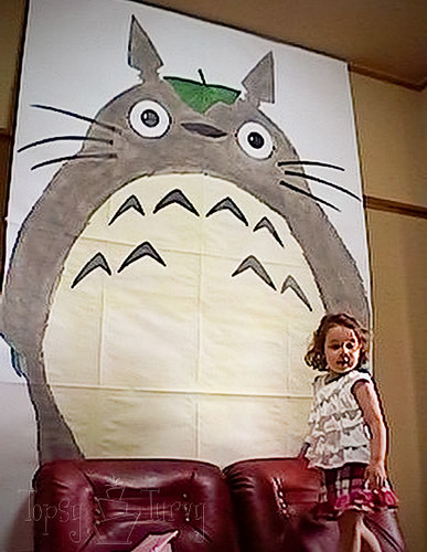 totoro 3rd birthday party painting poster boards