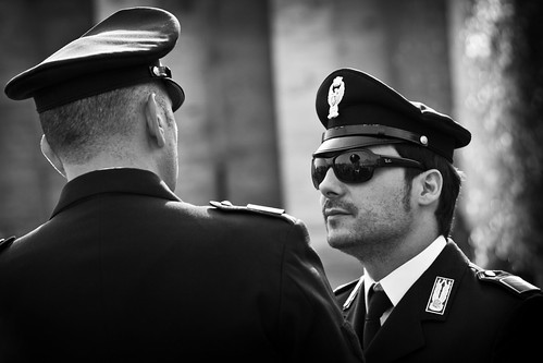 Men In Black & White, Vatican City by flatworldsedge