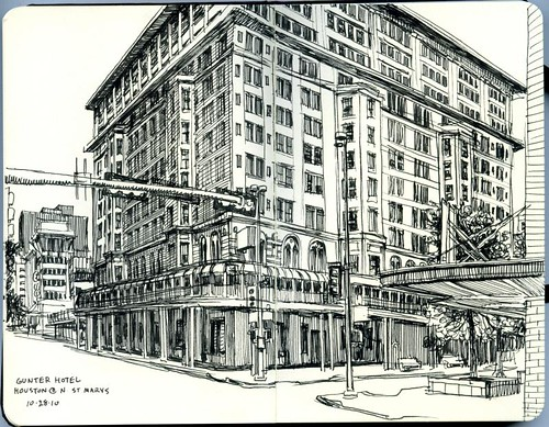 gunter hotel, 45 minute sketch