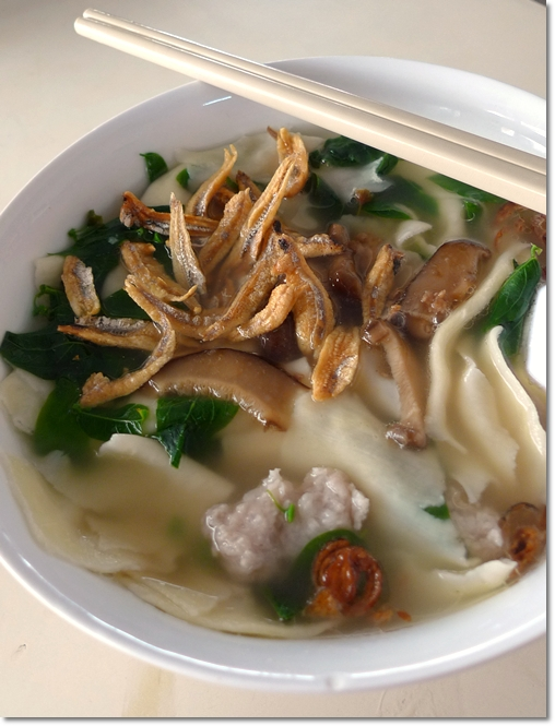 Pan Mee Soup with Crunchy Anchovies