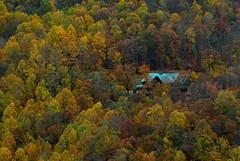 My Mountain Cabin (I Wish) (davidwilliamreed) Tags: autumn trees nature cabin fallcolors north carolina blueridgeparkway