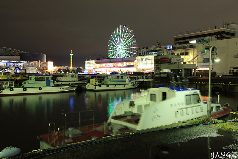 夜の名古屋港