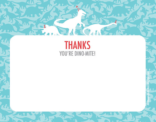 Dino-mite Thank You Card