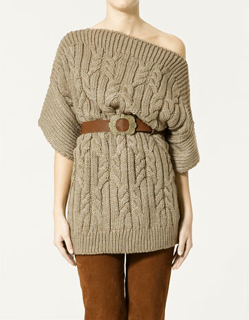 ff_wide cable knit boat neck jersey