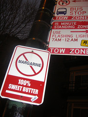 (Barrybu) Tags: street chicago sign sweet no margarine butter 100