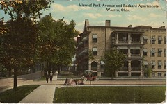 View of Park Avenue and Packard Aparments, Warren, Ohio (Downtown Warren History) Tags: park county ohio apartments oh warren avenue packard trumbull