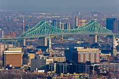 Montreal Lookout 200mm (Oddition) Tags: bridge favorite moon mountain canada slr art skyline digital canon marketing media quebec stadium d montreal social panoramic fave telephoto benny dslr 60 lynx olivier linx t2i olivierbenny linxmedia