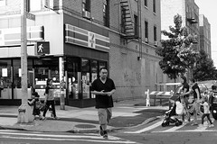 "Corner Crossing (Santos ""Grim Santo"" Gonzalez) Tags: fttt instagram corner crossing queens ny 2017 streetphotographer nycstreets newyorkcity 1415mobilephotographers myfujifilm fujifilm picoftheday storyofthestreet nyspc gothamist citylife ridgewoodqueens nyc urbanphoto quietmoments streetphotography nyclife flickr canpubphtoto urbanphotography photooftheday igstreet grimography photodaily photoobserve monochrome zonestreet streetcandidworldwide"