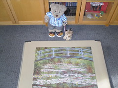 C'mon Pefki, let's go fer a walk! (pefkosmad) Tags: pomegranate jigsaw puzzle 1000pieces complete leisure pastime hobby painting art monet thejapanesefootbridge secondhand used