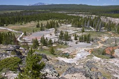 Artists Paintpot basin-Yellowstone National Park (AtmosFear Video) Tags: artistspaintpot upperview walkway geyserbasin