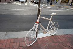 Ghost Bike (Daquella manera) Tags: sf san francisco california ca ghost bike white fantasma blanca