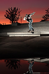 Peter Post: backside tailslide (tjeerd.derkink) Tags: sunset favorite reflection water photo ditch skateboarding best explore skateboard enschede twente roombeek nikesb sekonic backtail backsidetailslide l358 shiftysk8shop peterpost royalet tjeerdderkink stroinksbleek royaletproductions