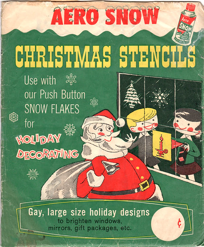 Aero Snow Christmas Stencils
