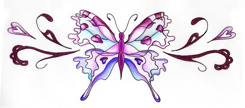 butterfly design for the lower back