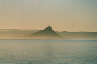 St.Michael's Mount from the Scillonian, early morning 1999
